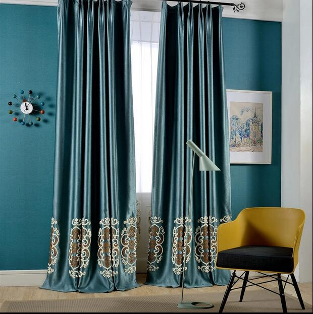 Luxury thisck blackout window curtains for living room made to order window screening curtains