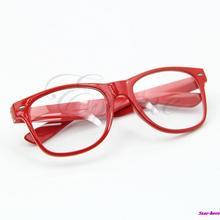 d0564675972f Fashion Cool Unisex Clear Lens Wayfarer Nerd Geek Glasses Eyewear For Men  Women