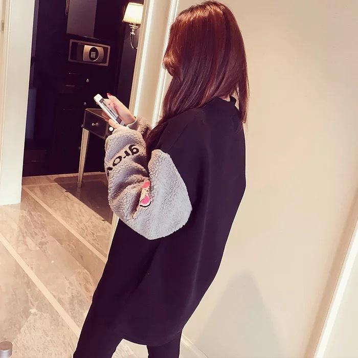 Мэн весело осень и зима заклинание цвет плюс кашемир jianling свободно тонкий свитер беременных женщин