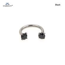 Кольцо для носа Starbeauty, 1 шт., 1,2x8 мм, с цирконием AAA(China)