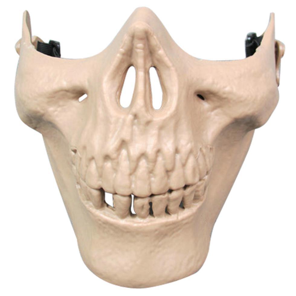 Лучше и лучших Airsoft маска череп скелет пол-лица защита Airsoft маска ( хаки )