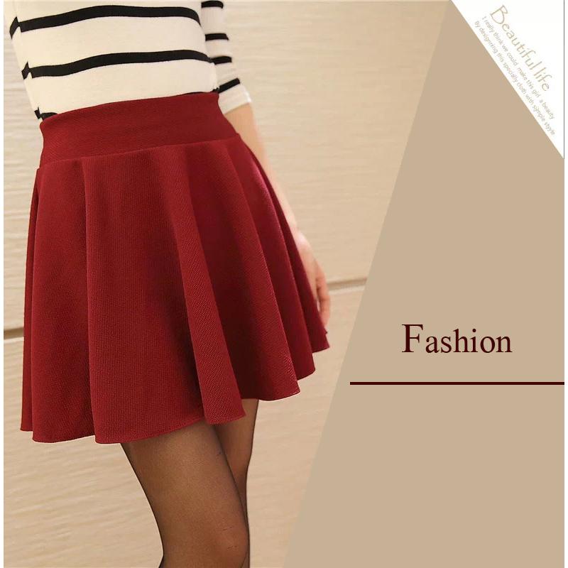 65968212bf4 ... SHOWME New Sexy Women Skirt Fashion Fall Winter Skirts Plus Size XL  High Waist Pleated Skirt ...