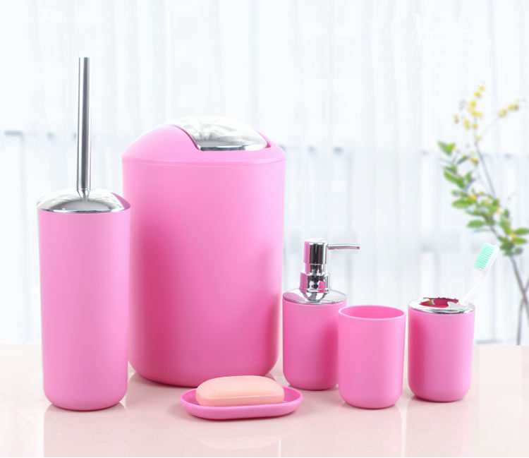 Hot Ing Pink Bathroom Accessories Set For Home And Hotel Use