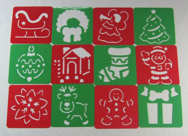 28DESIGN/LOT.Christmas stencil,Christmas toys,Xmas gift ...
