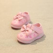2016 the new baby shoes diamond sweet bowknot female baby toddler shoes fashion antiskid soft bottom
