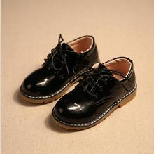 Boys dress shoes for girls loafers spring 2016 brand fashion children s short dress casual leather