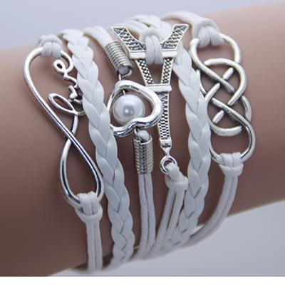 2016 Vintage Fashion Women Jewelry Leather Multilayer Bracelets Wholesales Jewellery