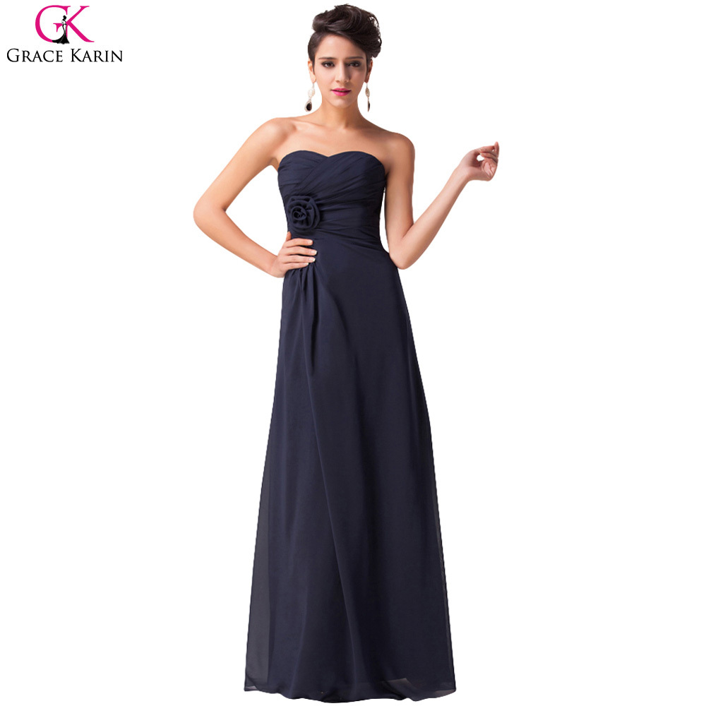 Natural Simple Elegant 2018 Blue Bridesmaid Dresses With: Elegant Simple Design Grace Karin A Line Long Chiffon