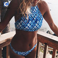 Cupshe Pure and Easy Ocean Tank Bikini Set Women Summer Sexy Swimsuit Ladies Beach Bathing Suit