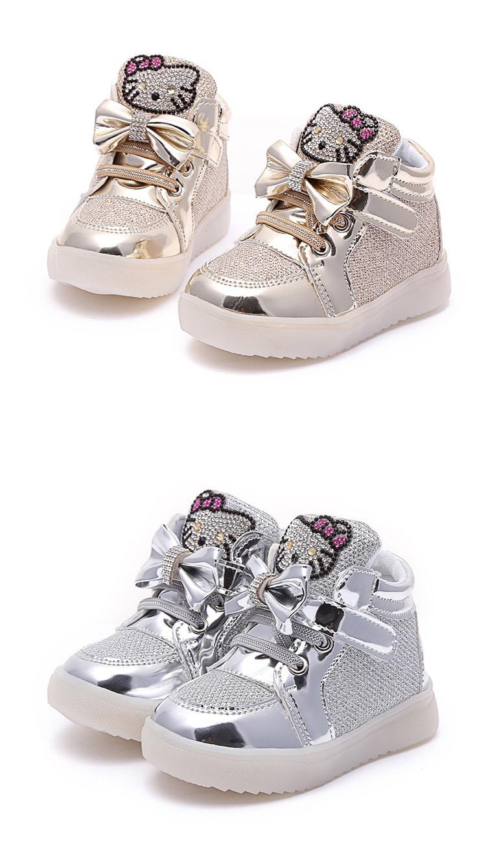 68522ef405d9 Девушки обувь детская Мода Крюк Петля светодиодные обувь дети свет  светящиеся кроссовки маленькие Девочки принцесса детская