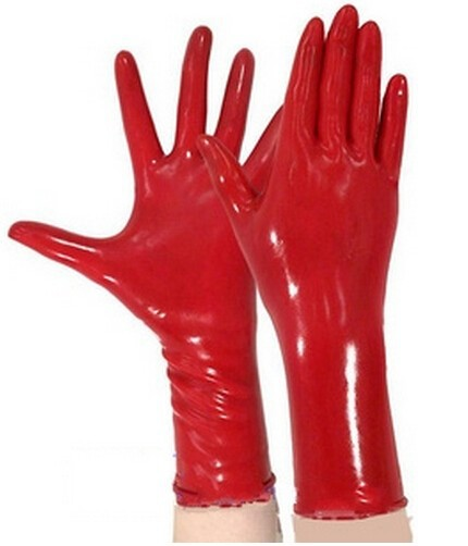 Color Latex Gloves Free Real Tits