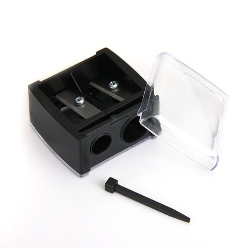 SOSW-Precision Cosmetic Pencil Sharpener for Eyebrow Eyeliner 2 Holes b770f29aaa93c