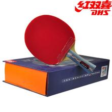 DHS Original Hurricane 3 Table Tennis Racket with Rubber + Balls + Bag Gift  Set Ping Pong Bat Pimples In 079339f33a844