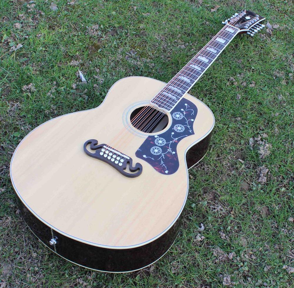 buy 2016 new arrival 12 string acoustic guitars jumbo guitarsolid spruce top. Black Bedroom Furniture Sets. Home Design Ideas