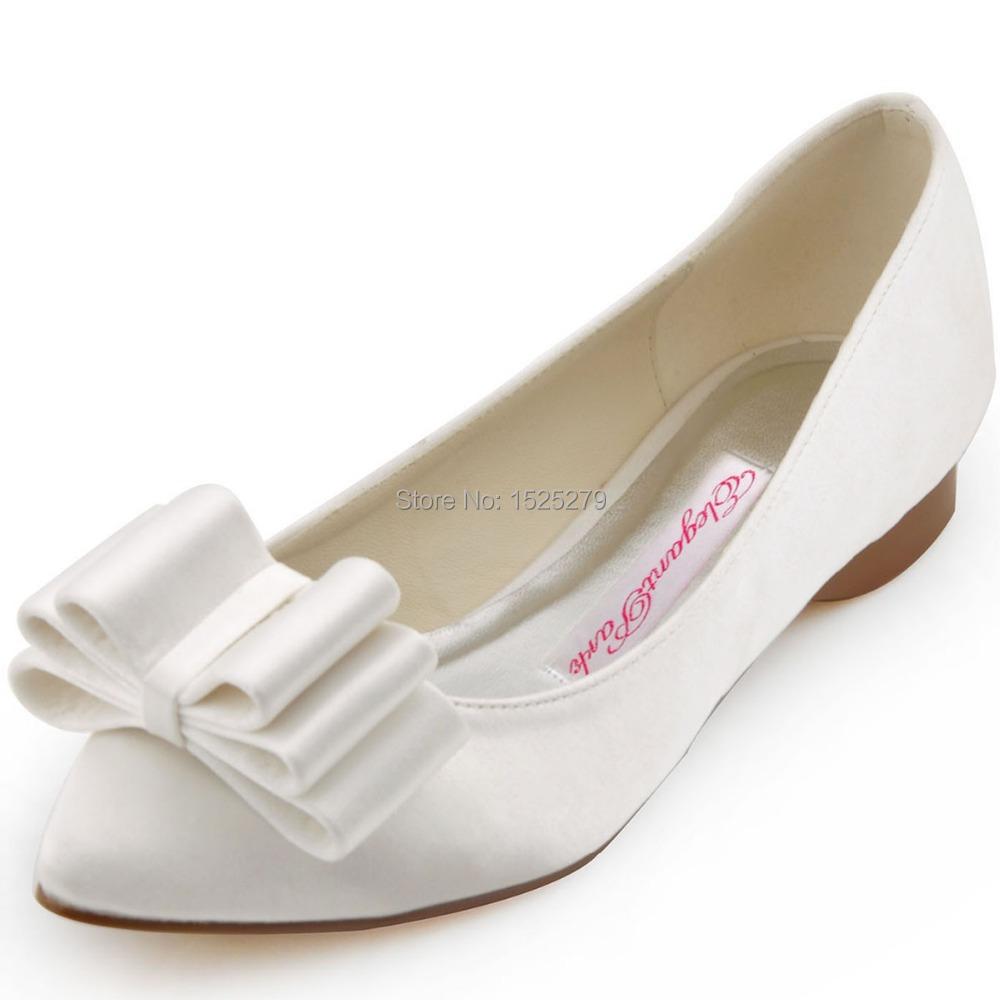 Bridal Shoes Closed Toe Ivory