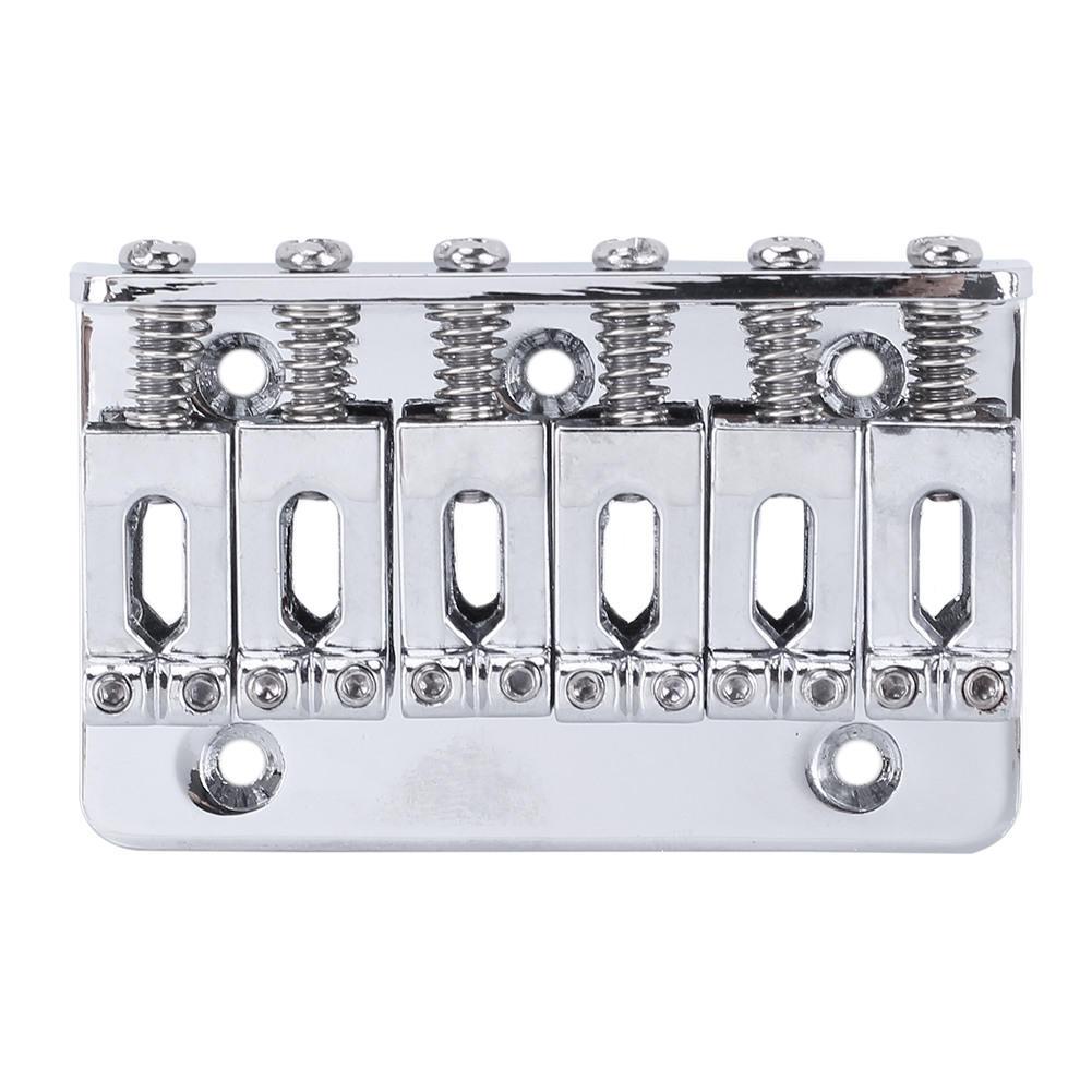 65mm 6 saddle string hardtail guitar bridge top load fixed for electric guitar in guitar parts. Black Bedroom Furniture Sets. Home Design Ideas