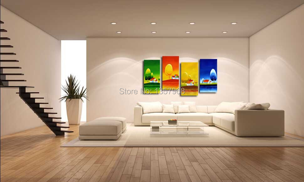 3 panels cuadros quadros  Season spring summer autumn winter On Canvas for Living Room Wall Art Picture Gift Decoration Home