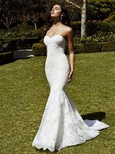 2016 New Arrival Sweetheart Mermaid Wedding Dress Backless Lace Floor Length Applique Vestido de novia Bridal Gown YX145