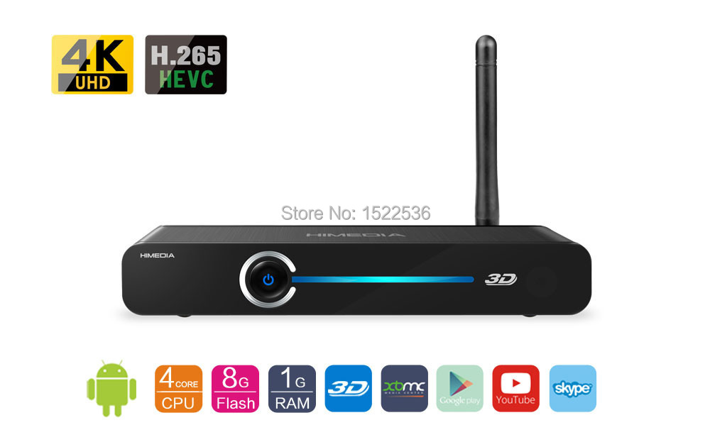 Free shipping, HIMEDIA, Android TV Box(Q3III, 4 cores chip/quad-core chips), Home TV Network player, Set-Top Box