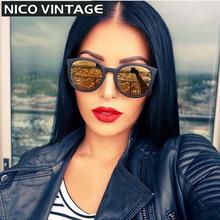 7561a94504a30 Espelhado Gradiente Clássico Óculos De Sol Das Mulheres Marca oculos de sol  Feminino Moda TR90 Óculos