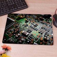 Electronic Circuit  Retro News Sell New Small Size  Mouse Pad Non-Skid Rubber Pad
