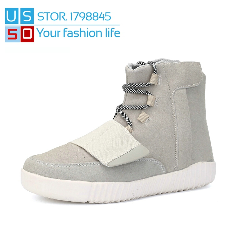 size 40 ed56d b88d0 High and Low Yeezy 750 Boots Mens 2015 Kanye West Lace-Up ...