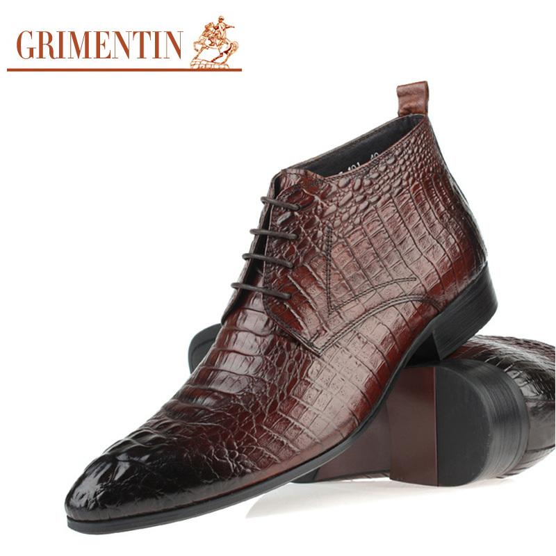 Mens Alligator Style Dress Shoes
