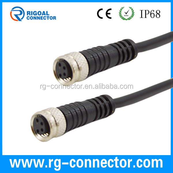 ip67 waterproof sensor 3 4 pin molded connector m8 cable. Black Bedroom Furniture Sets. Home Design Ideas