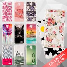 for Lenovo A 536 TPU Cases Soft IMD TPU Case for Lenovo A536 – Elegant Flowers