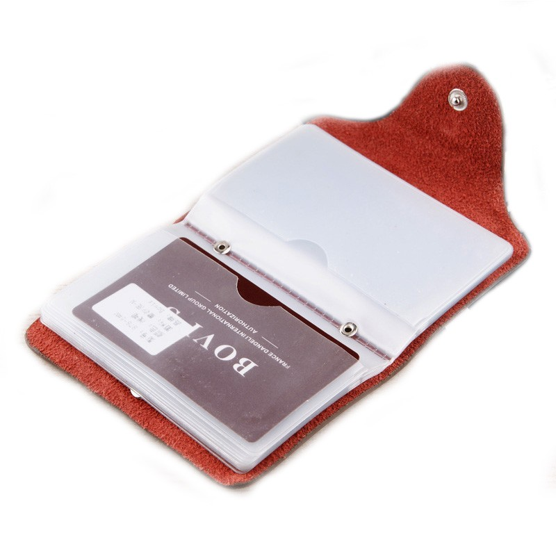 Bovis Leather Business Card Holder Vintage Credit Card Holder Hasp