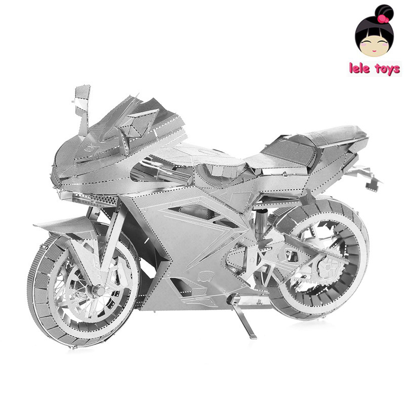 LELEOnline PIECECOOL Same style ICONX METAL EARTH MOTORCYCLE II 3D Metal model Etching puzzle Assembling DIY