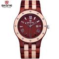 SKONE Date Natural Wooden Watches Men Antique Casual Watch Luxury Brand Roman Analog Quartz Wristwatch Hours