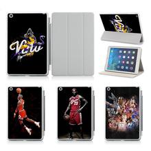 Customize Print Idea UV Print Flip Protective Shell/Skin For Apple IPad Air 2 Case Cover!Basketball Star Series 5