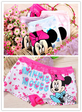 4piece/lot  girls underwear panties boxer child under wear  children pants kids wholesale cotton underware cartoon  8110Y