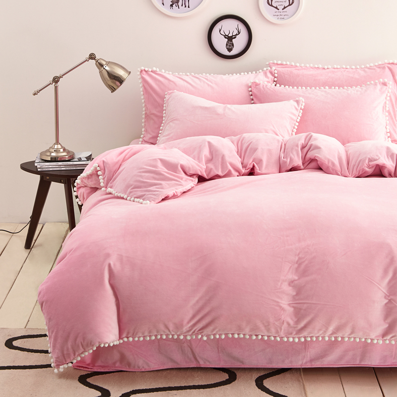 popular light pink duvet buy cheap light pink duvet lots from china light pink duvet suppliers. Black Bedroom Furniture Sets. Home Design Ideas