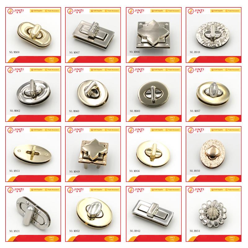 Nikkel Metalen Zak Slot Sluiting Voor Metalen Handtas