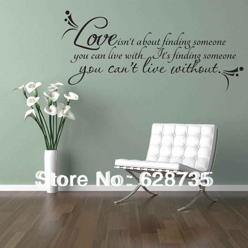 "Free Shipping Family Is Vinyl Wall Lettering Quote Wall: Love Wall Quotes Decal Room Decor ""love Isn't About"