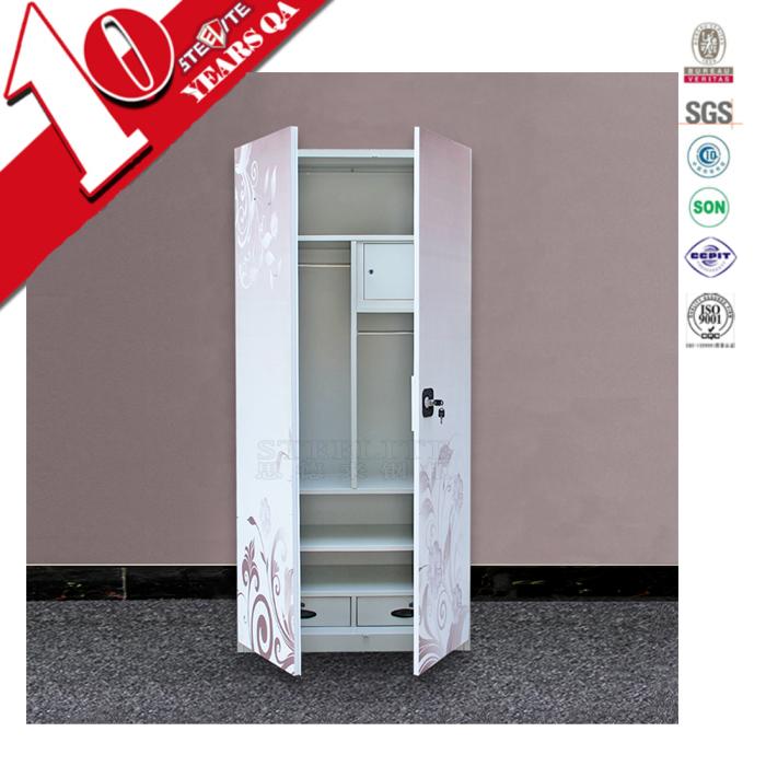 Easy Assemble Diy Metal Garage Or Shop: Diy Easy Assemble Chinese 2 Door Metal Clothes Storage