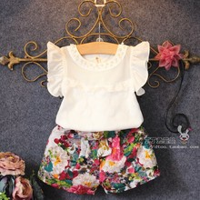2016 New Arrival Fashion Sports Knitted Clothing Set with Raglan Sleeve and Patchwork and O-Neck Sleeveless for Children