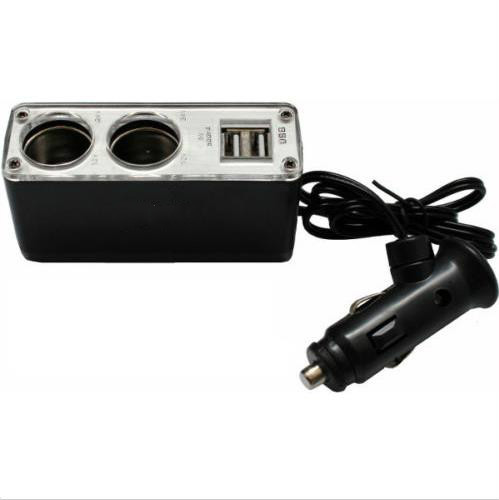 12 В 24 В 2 USB порта зарядное устройство автомобильная автомобилей прикуривателя USB разъем сплиттер адаптер