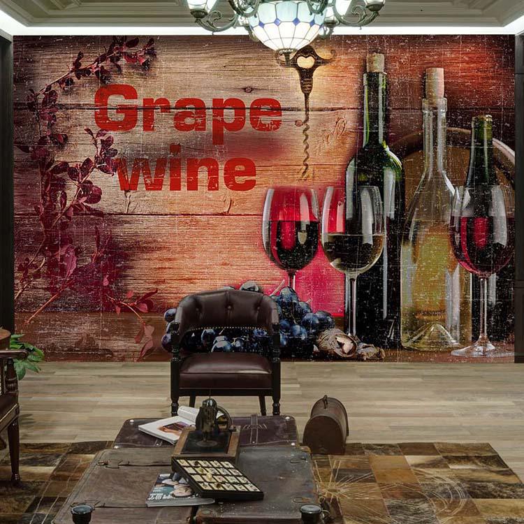 Us 1159 38 Off3d Wood Grain Wine Wallpaper Vintage Bar Living Room Mural Nostalgic European Winery Restaurant Bar Wallpaper In Wallpapers From