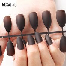 Накладные ногти ROSALIND, прозрачные накладные ногти с полным покрытием, удобные, матовые, искусственные, для дизайна ногтей(Китай)