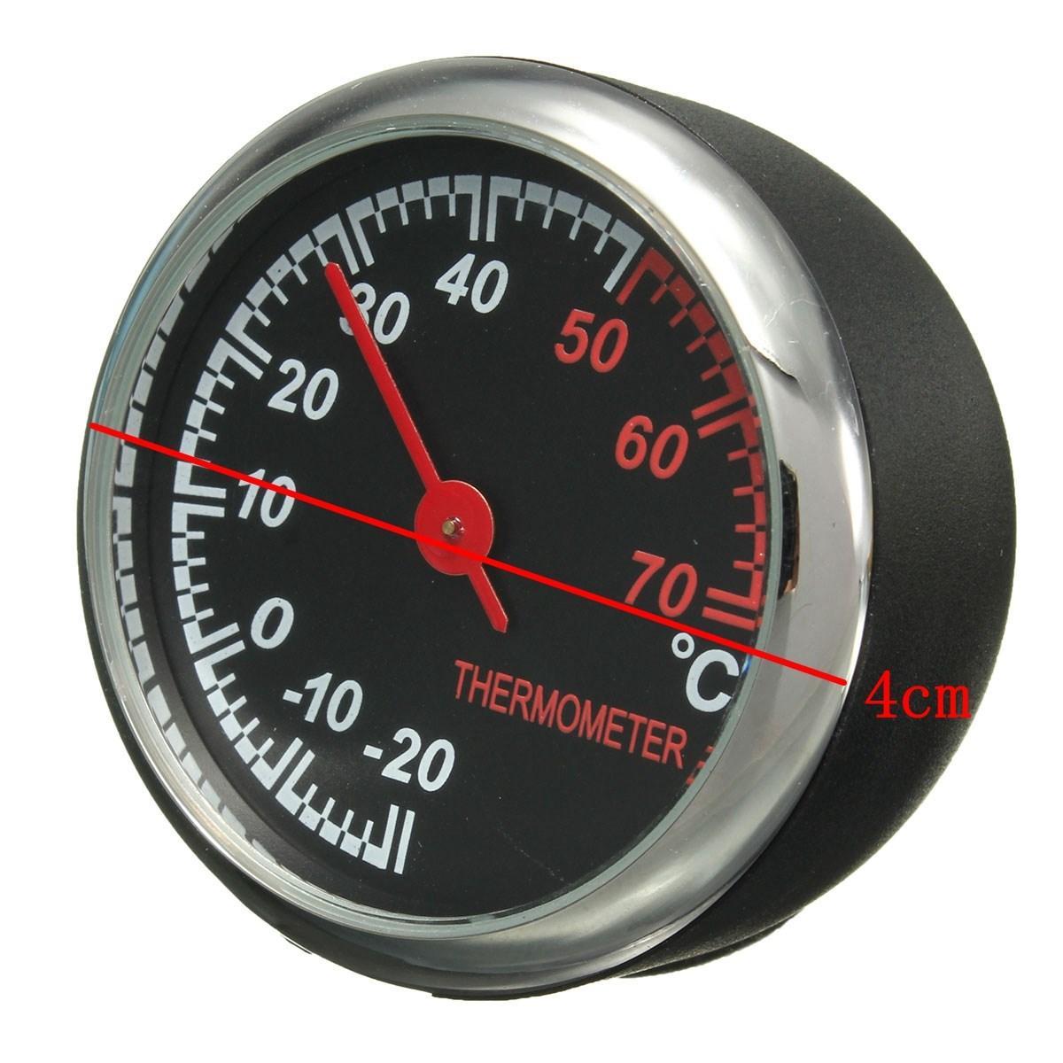 Новый мини механика термометр метр стальной сердечник указатель цифровой , пригодный для 12 В автомобиля