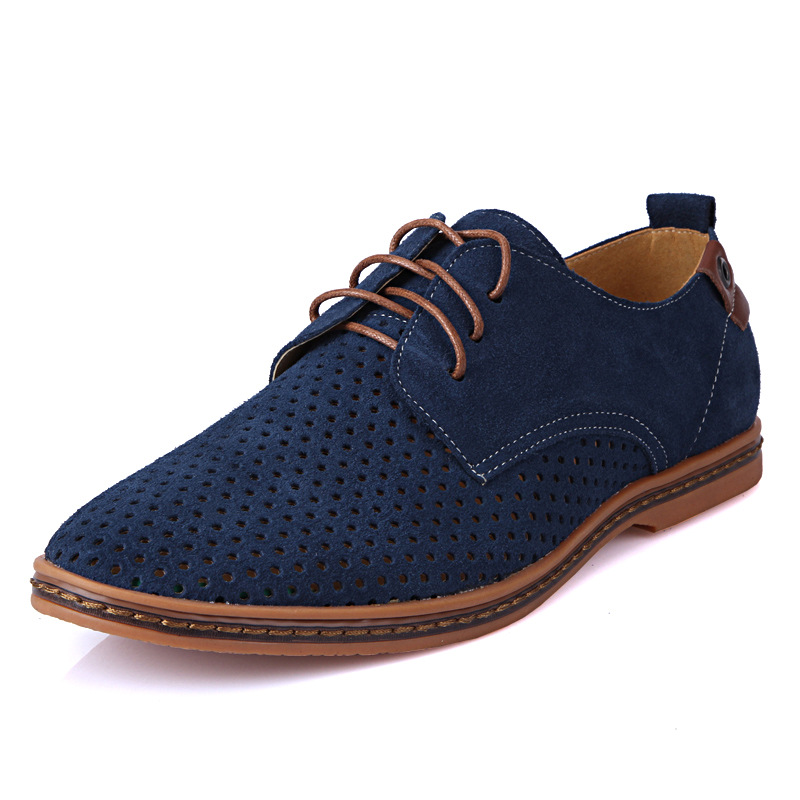 New Summer Men Large Size Shoes Male Brand British Casual