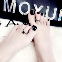 Короткие искусственные ногти impresse Kiss для ног, предварительно дизайнерские синие искусственные губки для девочек, Искусственный пластик, пр...(Китай)
