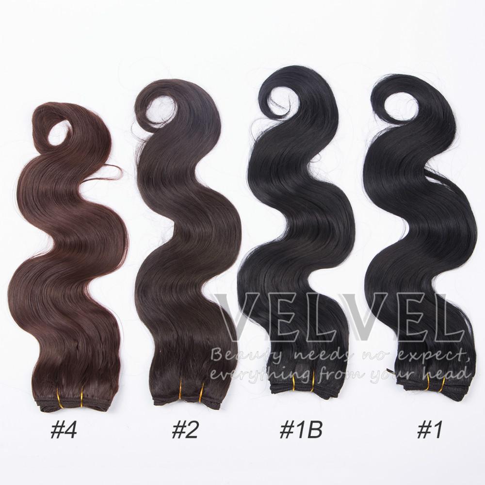 "1PC+ Premium Now Body Wave Hair 18"" Color1,1B,2,4 Pure"