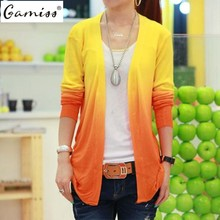 Gamiss 5 Colors Spring 2016 New Fashion Womens Cardigan Coat Ladies Long Sleeve Knitted Sweater Casual Knitwear High Quality