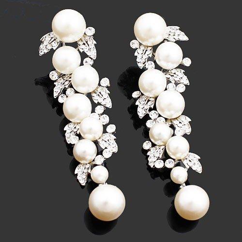 Diamond Drop Earrings Wedding