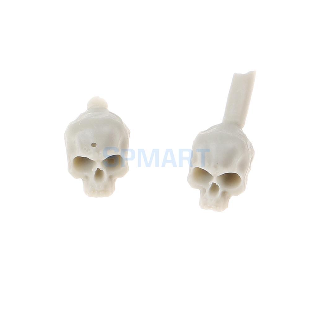 20Pcs/Pack Unpainted 5mm Resin Model Resin Miniature Skeleton Resin  Figurine Skull Resin Halloween Party Decoration Gag Toys