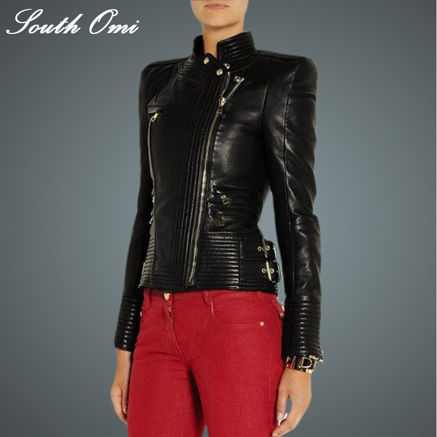Cool leather jackets for women